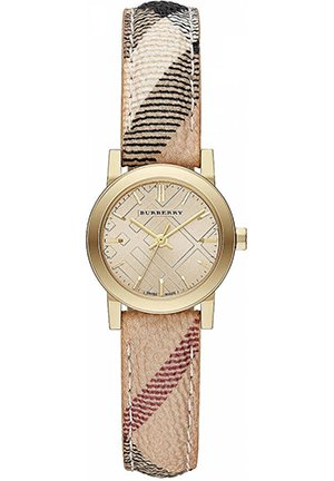 Ladies Yellow Gold-Tone & Haymarket Check Watch 26mm