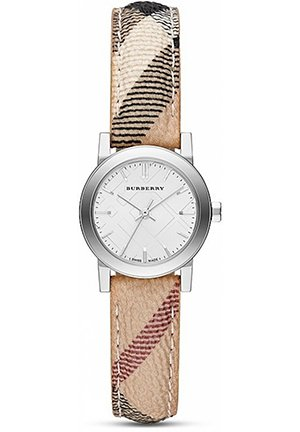 The City Silver Watch with Haymarket Check Strap, 26mm
