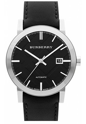 Burberry Check Stamped Round Dial Watch 42mm