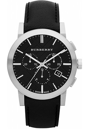Men's Swiss Black Leather Strap 42mm