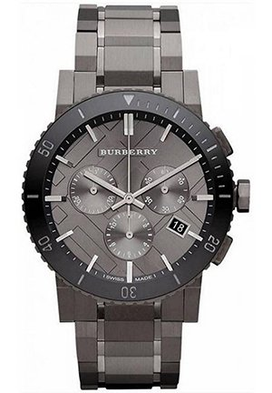 Chronograph Gunmetal Dial Grey Stainless Steel Mens Watch 42 mm
