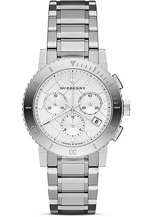 Stainless Steel Chrono Watch, 38mm