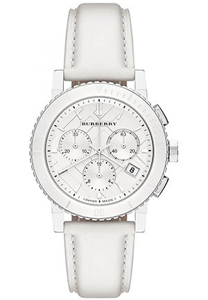 Burberry Women's City White Dial Stainless Steel Case Quartz Movement 38mm