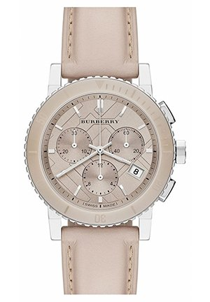 Burberry Check Stamped Chronograph Watch, 38mm