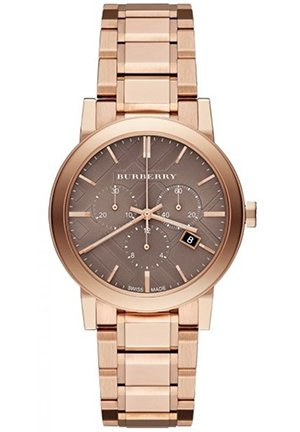 Unisex Swiss Rose Gold Ion-Plated Stainless Steel Bracelet Watch 38mm