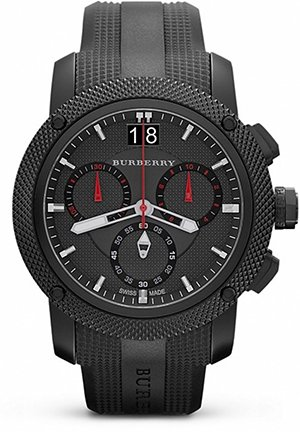 The Endurance Men's Black Ion Plated Chronograph Watch 46mm