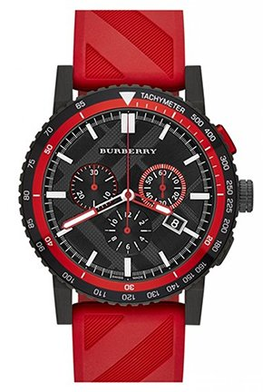 Chronograph Rubber Strap Watch 42mm