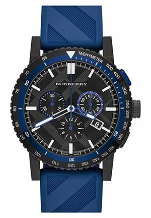 Men's Swiss Chronograph The New City Sport Blue Rubber Strap 42mm