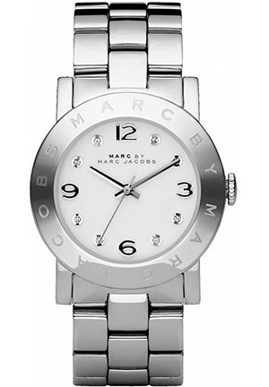 Amy White Dial Stainless Steel Ladies Watch36MM