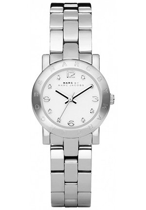 Mini Amy White Dial Stainless Steel Ladies Watch 26MM