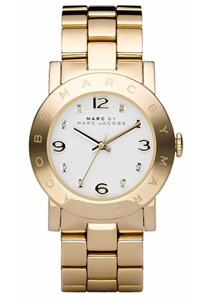 Amy White Dial Gold-Tone Stainless Steel Ladies Watch 36MM MBM3056
