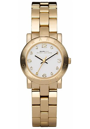Mini Amy White Dial Gold-Tone Stainless Steel Ladies Watch 26MM MBM3057