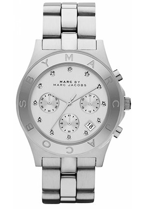 Marc by Marc Jacobs Blade in Silver Men's watch 40MM MBM3100