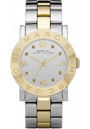 Amy Silver Dial Two-Tone Stainless Steel Ladies Watch 36mm MBM3139