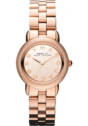 Mini Marci Rose Gold Mirror Dial Women's Watch 26mm MBM3175
