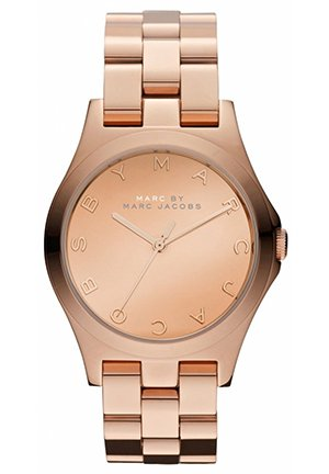 Henry Glossy Rose Gold-tone Ladies Watch 36MM MBM3212