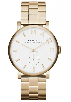 Women's Baker White Dial Gold-tone Ladies Watch 36.5 MM MBM3243