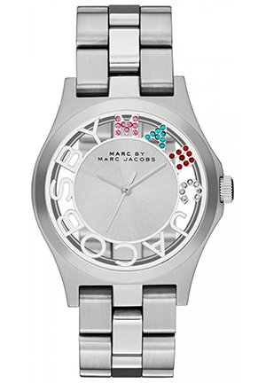 Ladies Silver Henry Skeleton Watch 40mm