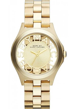 Henry Skeleton Gold Tone Link Watch 34mm MBM3292