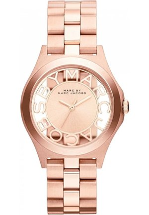 Henry Skeleton Rose Gold Tone Link Watch 34mm