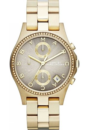 Henry Gold Tone Grey Dial Watch 36.5MM MBM3298