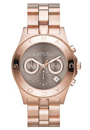 Blade Rose Gold Tone Chronograph Watch 40mm MBM3308