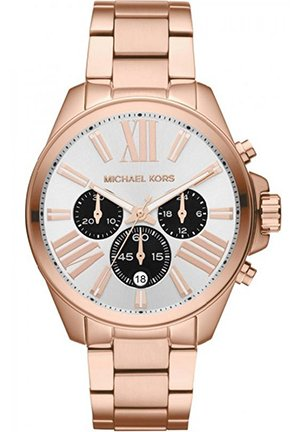 Unisex Rose Golden Stainless Steel Wren Chronograph Watch 43mm