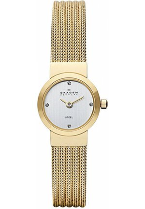 Women's Gold-Tone Stainless Steel Mesh Bracelet 19mm