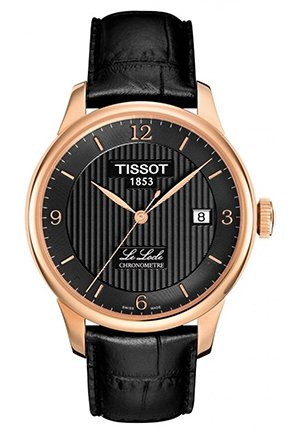 Le Locle Automatic COSC Black PVD Mens Watch, T0064083605700 40mm
