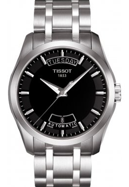 TISSOT Men's Black Automatic Trend Watch T035.407.11.051.00 39mm