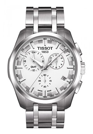 Couturier Men's GMT Silver Quartz Trend watch , T0354391103100 41mm