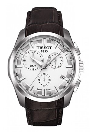 Couturier Men's GMT Silver Quartz Trend Watch , T0354391603100 41mm