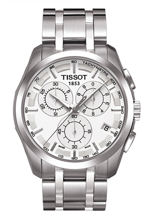 Couturier Men's Silver Chronograph Stainless Steel Watch , T0356171103100 41mm