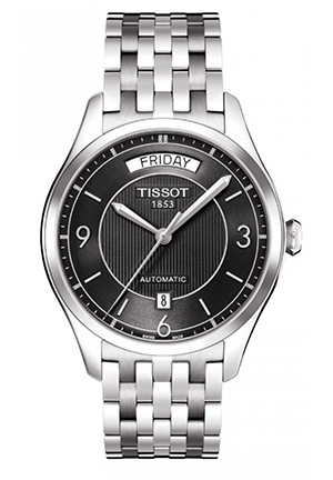 T-One Men's Black Automatic Stainless Steel Watch T0384301105700, 38.5mm