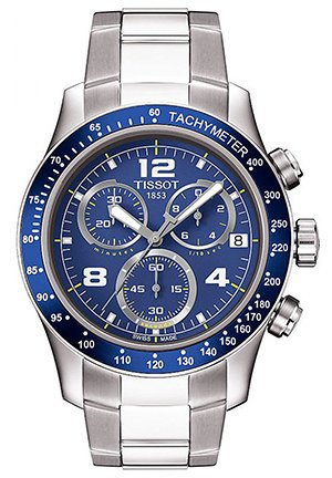 Tissot Men's V8 Chronograph Watch, T0394171104702 42.5mm