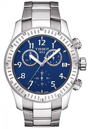 V8 Blue Dial Stainless Steel Mens Watch, T0394171104703 42.5mm