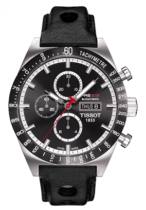 PRS 516 Men's Black Automatic Chronograph Sport Watch T0446142605100 45mm