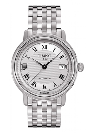 Bridgeport Men's Silver Automatic Steel Watch T0454071103300, 40mm
