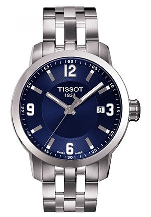 TISSOT PRC 200 Quartz Blue Sport Mens Watch T0554101104700, 39mm