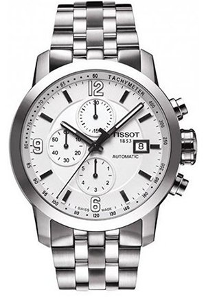 TISSOT Men's PRC200 Automatic Chronograph Watch T0554271101700, 43mm
