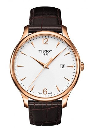 Tradition Gent Rose Gold PVD Classic Quartz Watch , T0636103603700 42mm