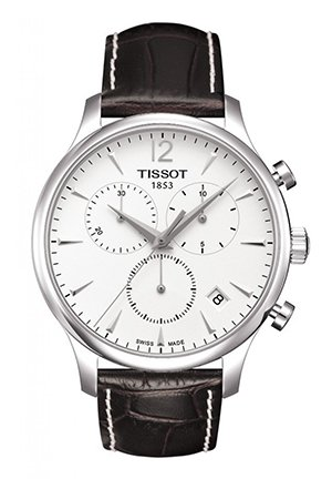 Tradition Men's Silver Chrono Classic Watch T0636171603700, 42mm