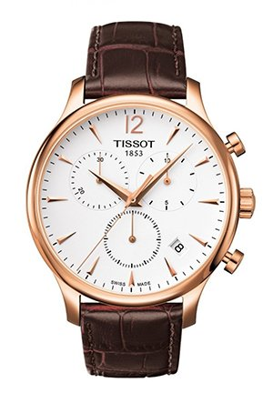 Tradition Rose Gold PVD Men's Quartz Classic Chronograph Watch , T0636173603700 42mm