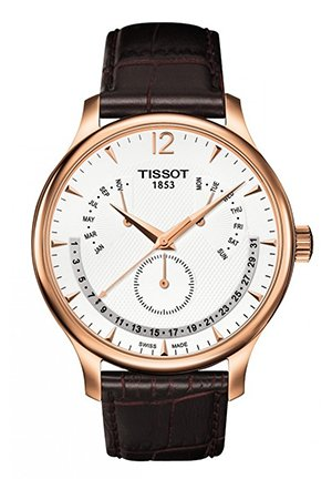 Tradition Rose Gold PVD Men's Perpetual Calendar Classic Quartz Watch , T0636373603700 42mm