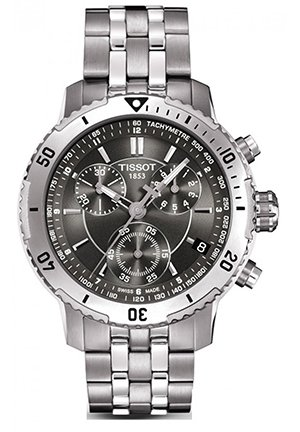 TISSOT PRS 200 Chronograph Black Sport Mens Watch T0674171105100, 42mm