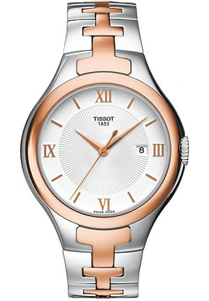 Two-tone Stainless Steel Ladies Watch , T0822102203800 34mm