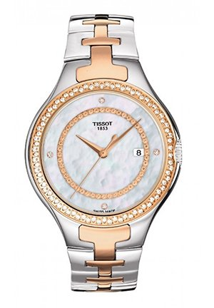 T12 Women's Quartz Trend Watch with Mother-Of-Pearl & Diamonds T0822106211600, 41.5mm