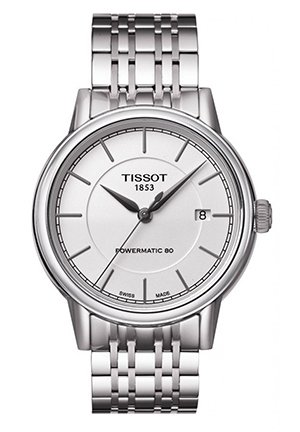 Carson Men's Automatic White Classic Watch with Stainless Steel Bracelet T0854071101100, 40mm