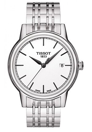 T-Classic Carson White Dial Stainless Steel Mens Watch, T0854101101100 40mm
