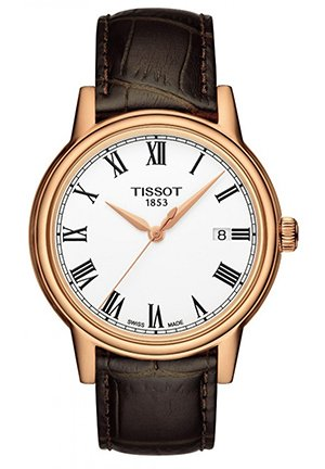 TISSOT Carson Men's Brown Leather Strap T0854103601300, 40mm